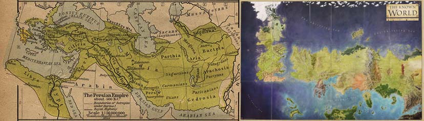 Ancient Persia and song of ice and fire
